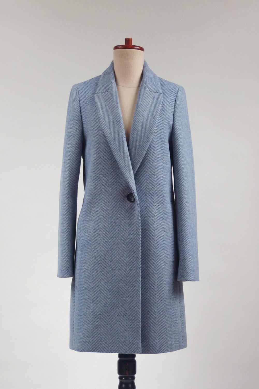 Jednorzędowy płaszcz z rewersem Sophie