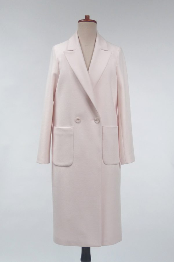Straight-cut wool blend spring coat Nina