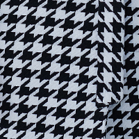 fabric with a classic black and white houndstooth