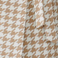 fabric with camel houndstooth
